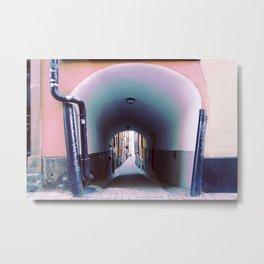 Stockholm. Blue Passage in Gamla Stan Metal Print