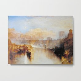 """J.M.W. Turner """"Ancient Rome; Agrippina Landing with the Ashes of Germanicus"""" Metal Print"""