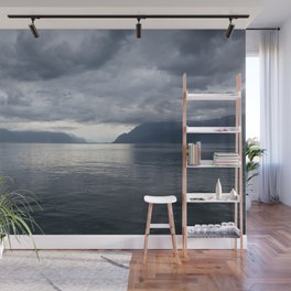 Cloudy Day by The Lake #decor #society6 #buyart Wall Mural