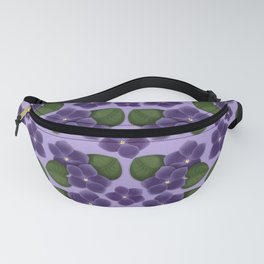 Violets are purple Floral Pattern Blossoms Fanny Pack
