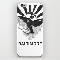 baltimore iPhone & iPod Skins featuring Boboh Baltimore by Adrienne S. Price