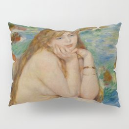 "Auguste Renoir ""Seated bather"" Pillow Sham"
