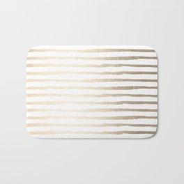 White Gold Sands Thin Stripes Bath Mat
