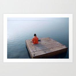 Meditation, India Art Print
