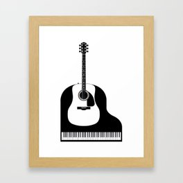 Piano and Guitar Framed Art Print