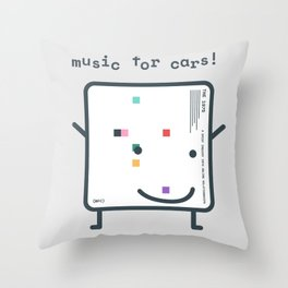 Music for Cars / ABIIOR (1975) Filo Throw Pillow