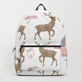 Pattern deer wood Backpack