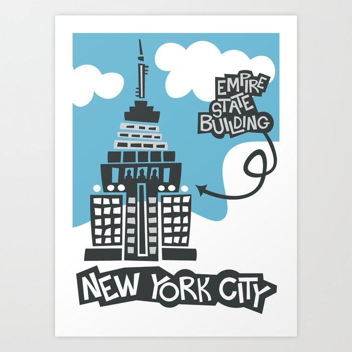 Empire State Building New York City Art Print