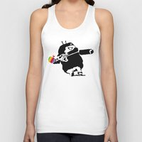 banksy Tank Tops featuring Banksy + Android = Bankdroid by Williams Davinchi
