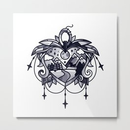 heart path Metal Print