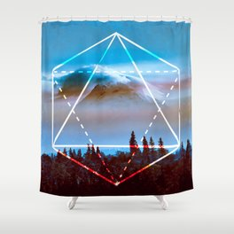 The Elements Geometric Nature Element Of Air Shower Curtain