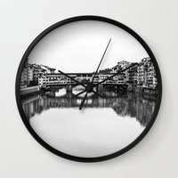 florence Wall Clocks featuring FLORENCE by Sara_photographer