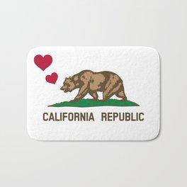 California Republic Bear with Hearts Bath Mat