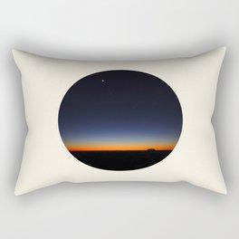 Orange & Blue Sunset Over The Australian Outback Round Photo Rectangular Pillow