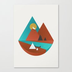 Tipi by the River Canvas Print