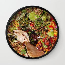 Food Collage 4 Wall Clock