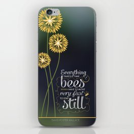 David Foster Wallace on Bees  iPhone Skin