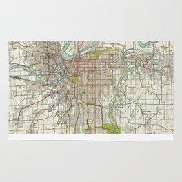 Vintage Map of Kansas City Missouri (1920) Rug