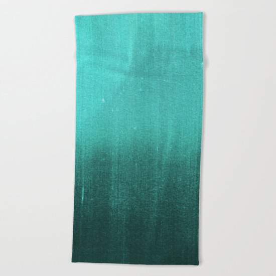 BLUR / abyss / turquoise green Beach Towel