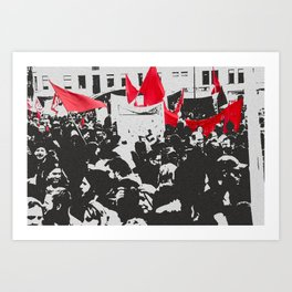 Black and red Art Print