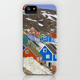 Colourful Houses in Western Greenland iPhone Case