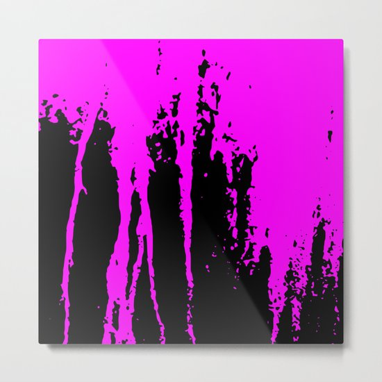 Scratched Paint Metal Print
