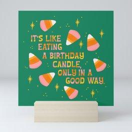 Candy Corn, Like Eating a Birthday Candle Mini Art Print