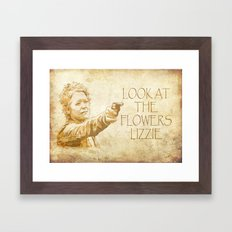 Look at the Flowers Lizzie Framed Art Print