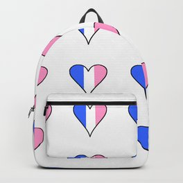 Parody of the french flag 3-France,Paris, pink, Marseille, lyon, Bordeaux,love, girly,fun,idyll,Nice Backpack