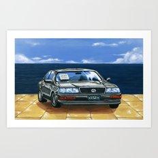 Street Fighter II Bonus Stage Car Art Print