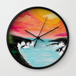 Black sands Wall Clock