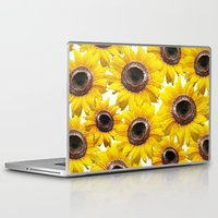 sunflowers Laptop & iPad Skins featuring Sunflowers by Regan's World