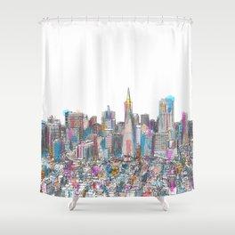 San Francisco Coit view Shower Curtain