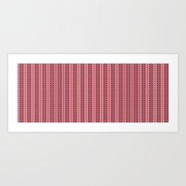Striped Ahoy Red Art Print