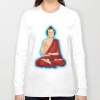 buddah Long Sleeve T-shirts featuring Adeptu Buddah by Conversa entre Adeptus