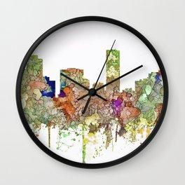 Denver, Colorado Skyline SG - Faded Glory Wall Clock