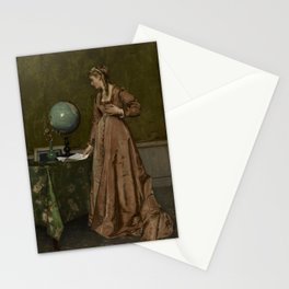 Alfred Stevens - News from Afar Stationery Cards