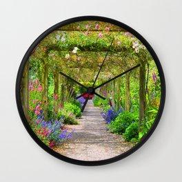 Flowers a Plenty Wall Clock
