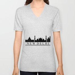 skyline new delhi Unisex V-Neck