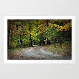 October Road Art Print