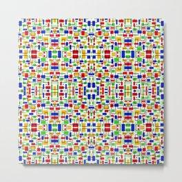Mosaic Art Abstract Colorful Design Metal Print