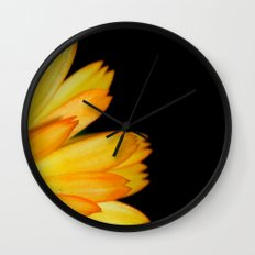 orange petals Wall Clock