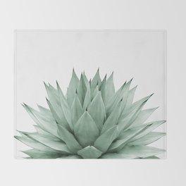 Agave Green Summer Vibes #1 #tropical #decor #art #society6 Throw Blanket
