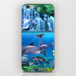 The Dolphin Family iPhone Skin