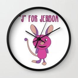 Cute, Smart & Funny Jerboa Tshirt Design J for Jerboa Wall Clock
