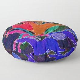 Batik Horses Floor Pillow