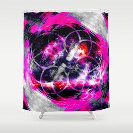 Pink Aura Shower Curtain