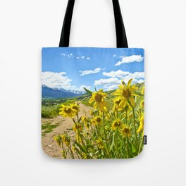Vibrant trail Tote Bag