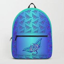 Tribal Manta Ray Backpack