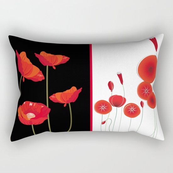 Graceful poppies Rectangular Pillow